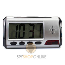 Spy Alarm Table Clock Hidden Camera HD