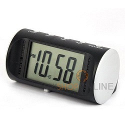 Motion Detection Table Clock Spy Camera