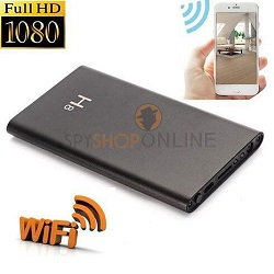 Spy WiFi P2P Camera Power Bank