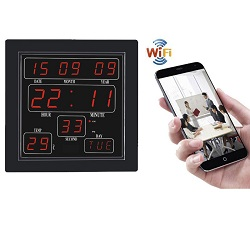 Spy WiFi Wall Clock Camera