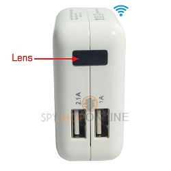 Full HD USB Power Adapter P2P Surveillance WiFi Spy Camera