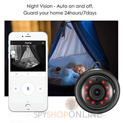 Night Vision Full HD 1080P Wide Angle Spy Camera