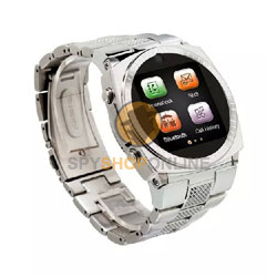 Smart Wrist Watch Mobile Phone - Silver