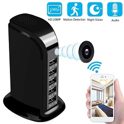 Wireless Spy Camera in USB Mobile Wall Charger