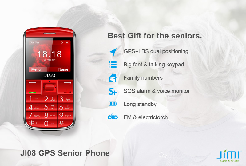 Mobile Phone GPS Tracker with SOS for Seniors