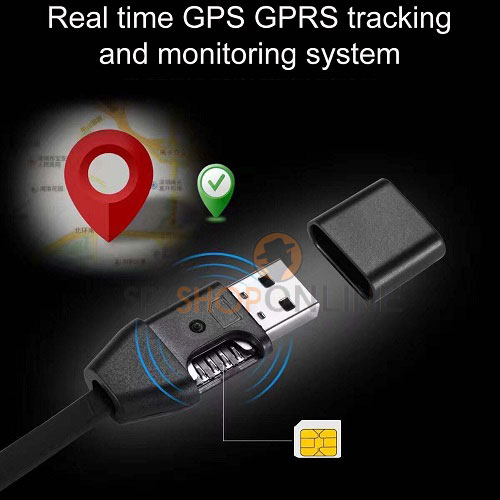 Hidden GSM USB cable GPS Tracker locator for IOS iPhone