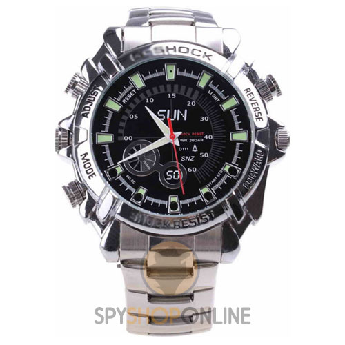 Spy Wrist Watch Hidden Camera HD Stainless Steel - Night Vision
