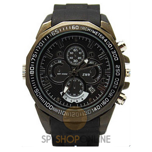 Spy Wrist Watch Hidden Camera HD Night Vision - Black
