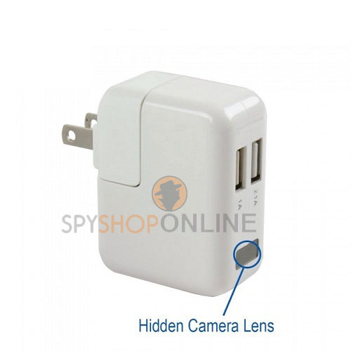 1080P HD Hidden Spy Camera AC power Adapter Motion Detection Plug Record Camera