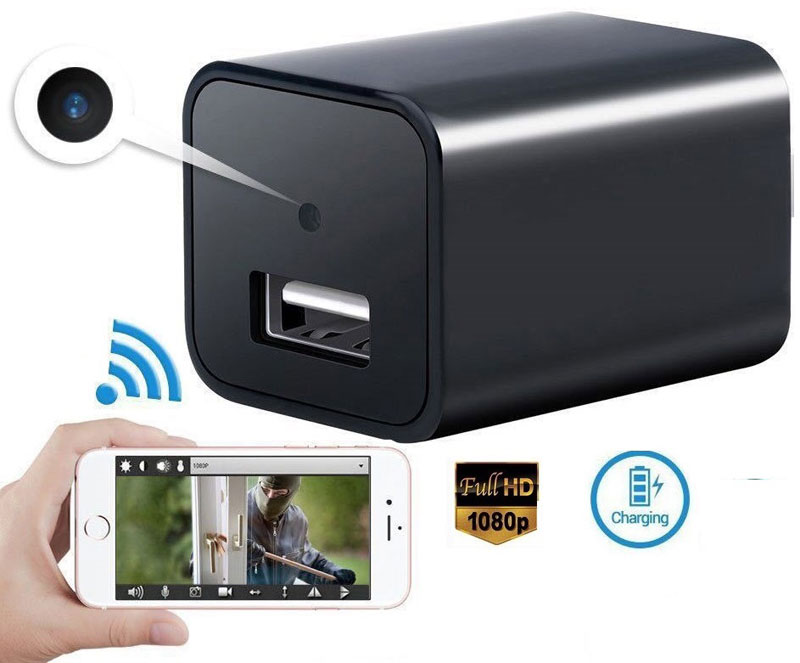 1080P HD USB Wall Charger Hidden Spy Security Surveillance Camera