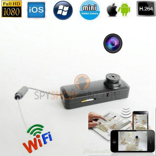 Mini DV 1080P HD Wifi Button Pinhole Hidden Spy Camera