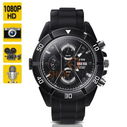 Full HD Mini Spy Camera Watch Wearable Video Camcorder with Audio Recording